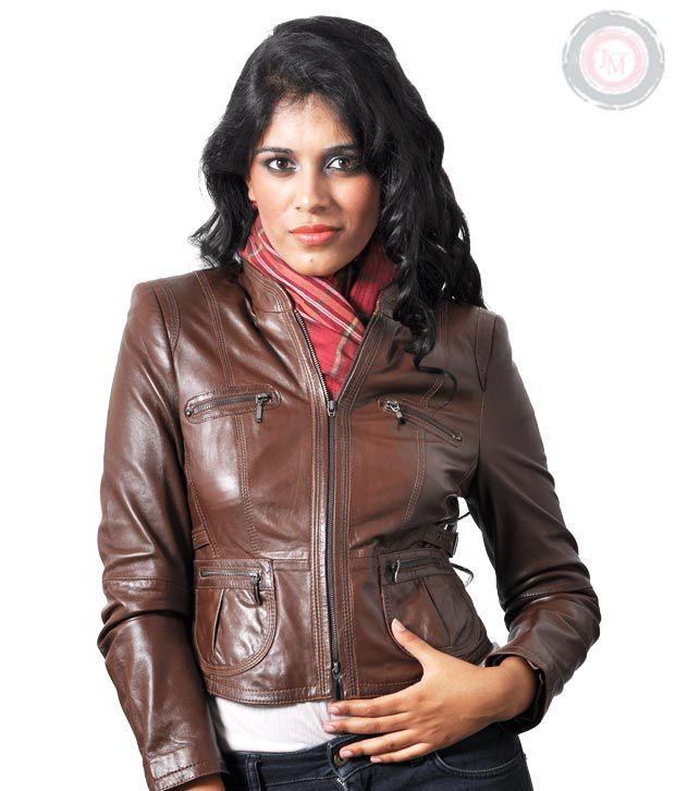 9d3df9dc087fa Buy JM Brown Women's Leather Jacket Online at Best Prices in India -  Snapdeal