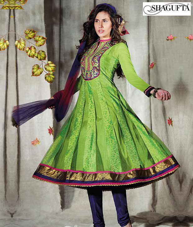 Shagufta Chanderi Banarasi Silk Suit-B-520