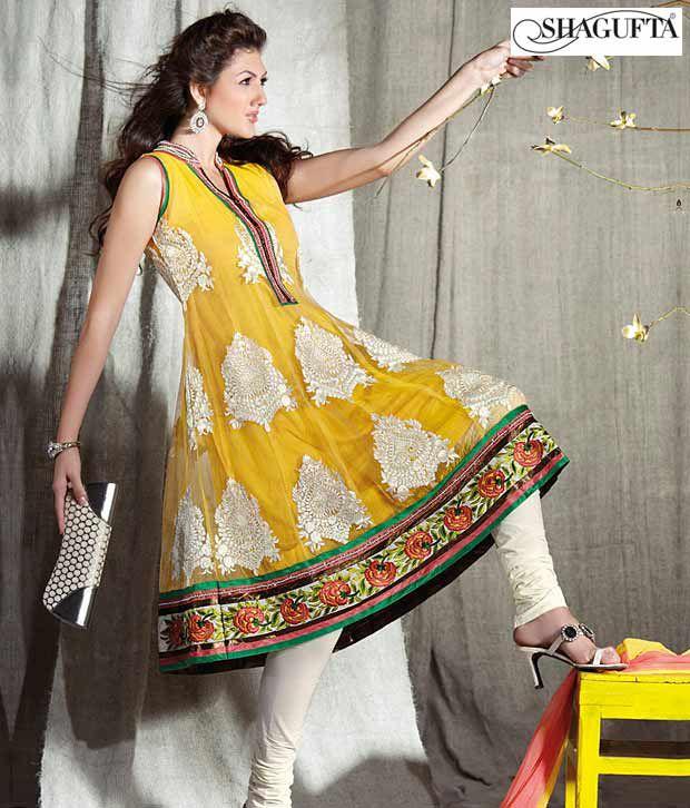 Shagufta Chanderi Banarasi Silk Suit- B-526