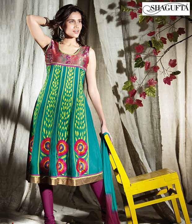 Shagufta Chanderi Banarasi Silk Suit-B-529