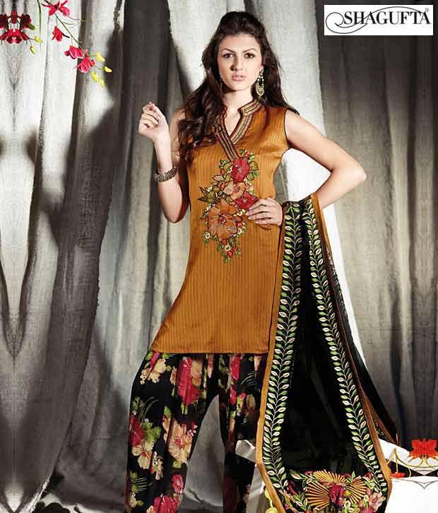 Shagufta Chanderi Banarasi Silk Suit-B-533