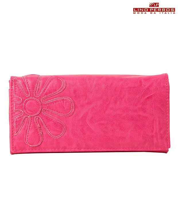 Lino Perros Pink Flower Wallet