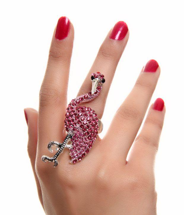 Pari Pink Crane Ring