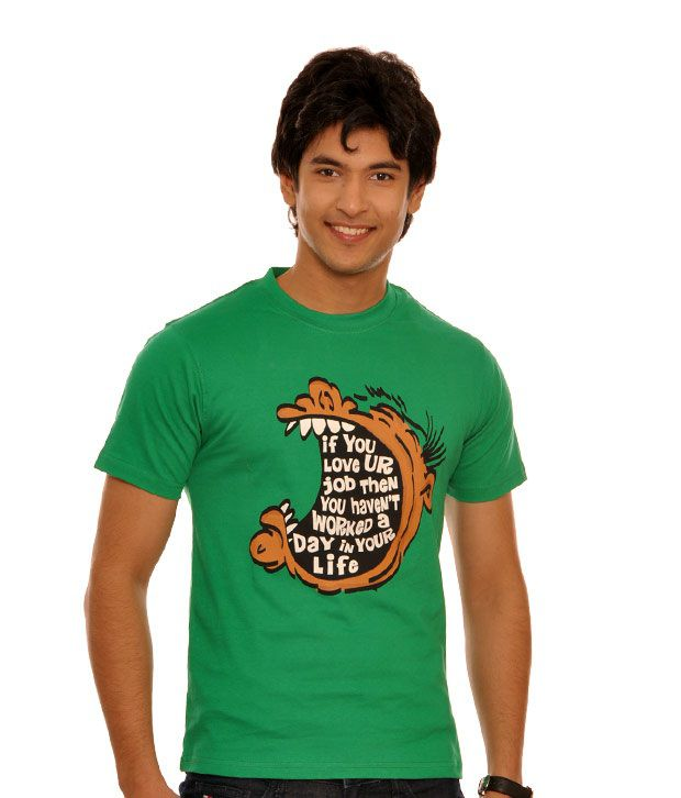 Teesort Green Gulp T- Shirt- TEE08-GR