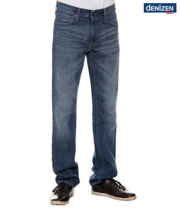 Denizen Regular Fit  Shaded Blue Jeans (30252-0107)