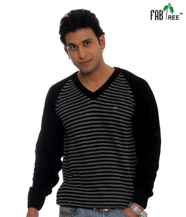Fabtree Black Striped Pullover-SK-512-BK