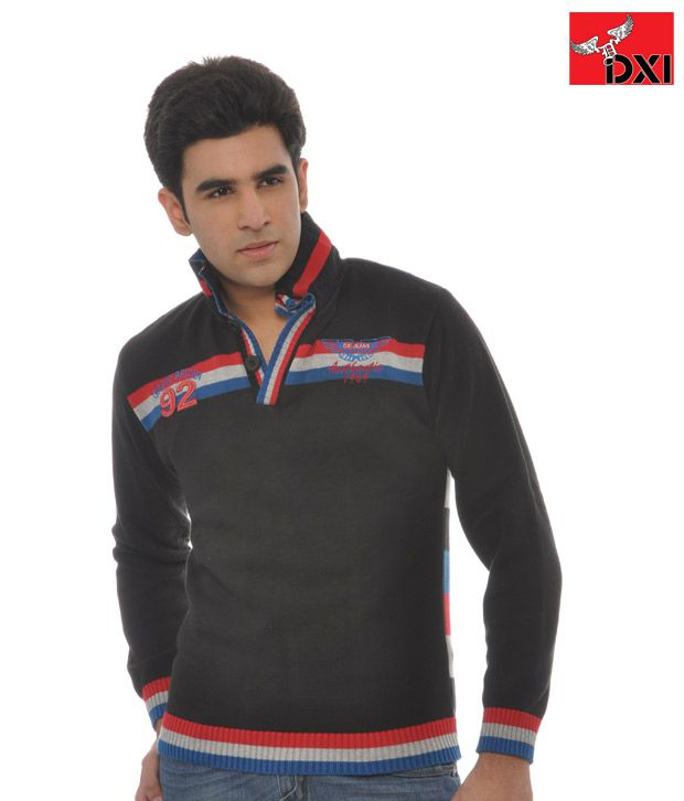 DXI Sweatshirt For Men- X1309 -Black