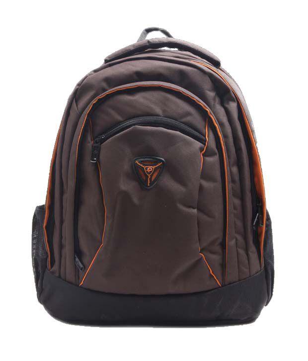 President Puffy Brown Orange Backpack