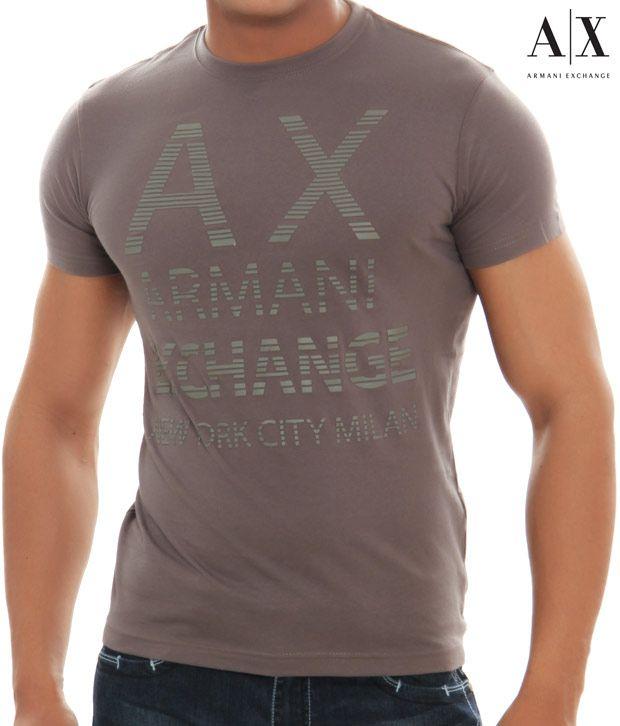 558fc80f71a Armani Exchange Brown Graphic Print T-shirt - AX08BRWN - Buy Armani Exchange  Brown Graphic Print T-shirt - AX08BRWN Online at Low Price - Snapdeal.com