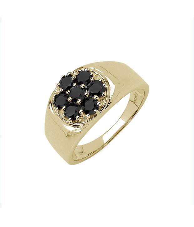 Johareez Royal Black Diamond Men'S Ring