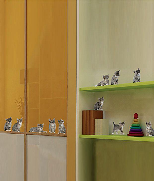 Plage Cute Kittens Wall Sticker