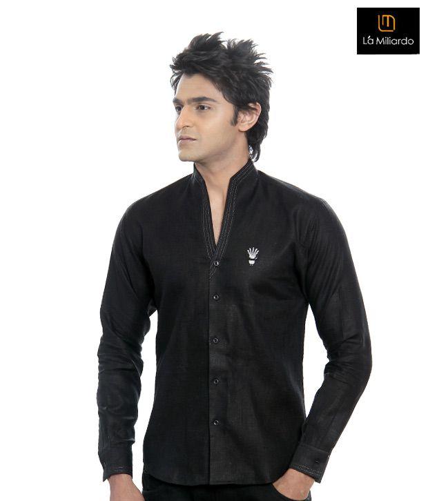 La Miliardo Black Shirt-5111/10-Black