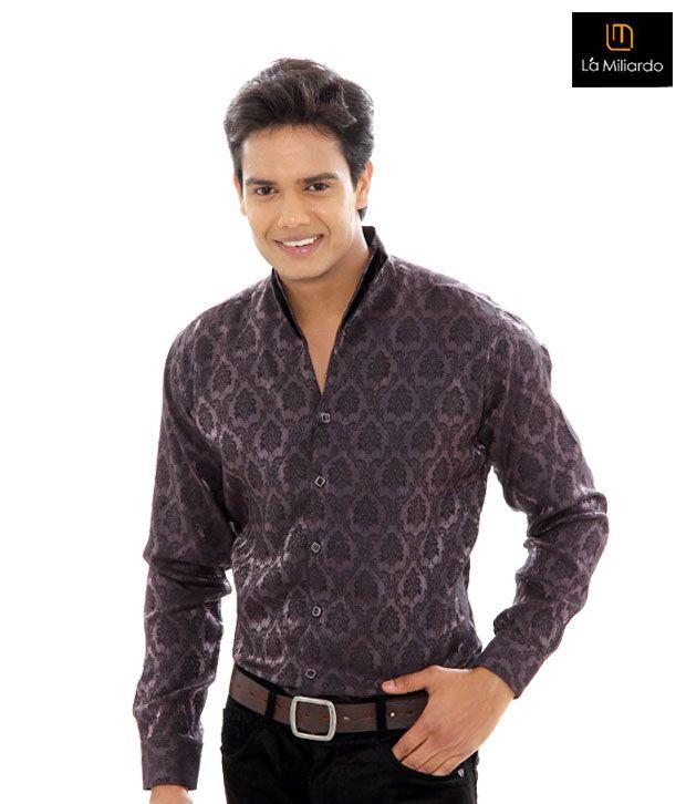 La Miliardo Mauve Shirt-5214/18-Mauve