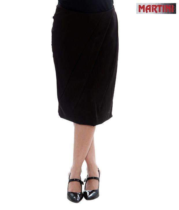Martini Black Pleated Skirt-MART-060