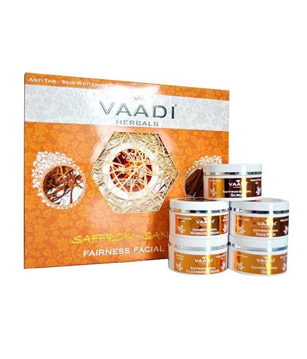 Vaadi Saffron Sandal Facial Kit - Sandalwood Oil, Lemongrass, Orange Peel & Shea Butter 70gms
