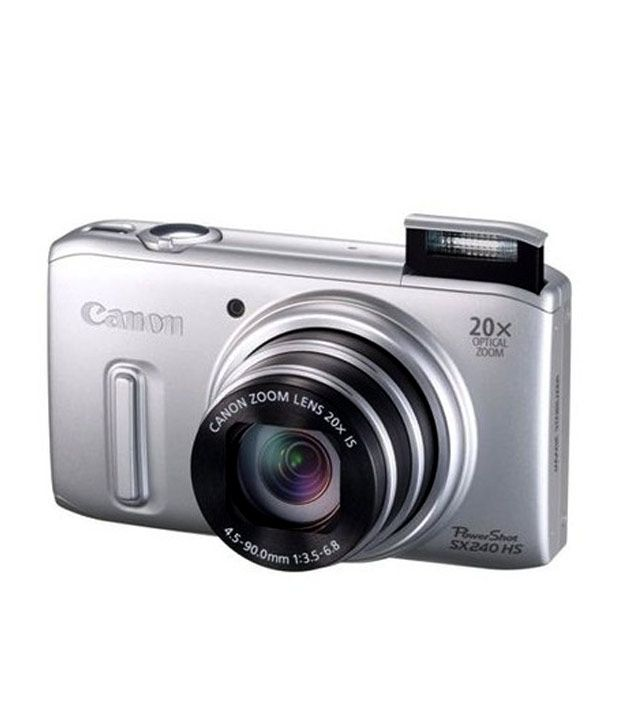 Canon Powershot SX240 HS 12.1  MP Point & Shoot Camera (Silver)