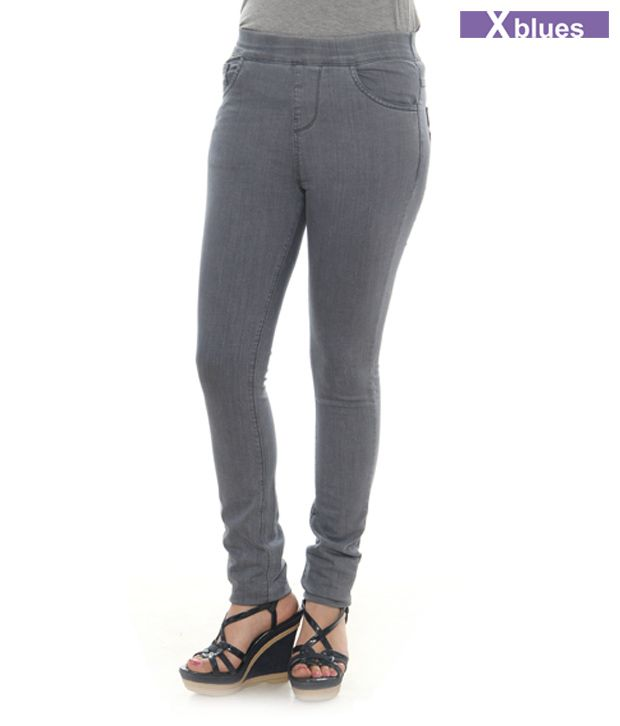 X-Blues Grey Jeggings 1610-DGREY