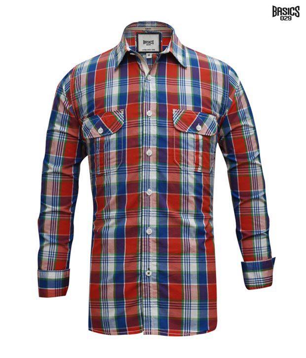 BASICS 029 Shirt 10BSH23463-BL-LS
