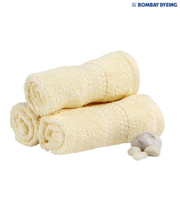 Bombay Dyeing Super Ultrax Beige Face Towel Set