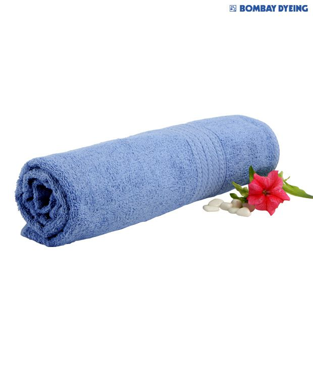 Bombay Dyeing Tulip Blue Bath Towel
