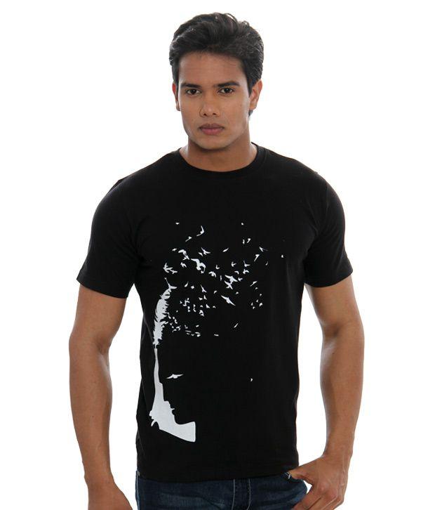 Casual Tees Black T-Shirt (CK-2458 -Black)