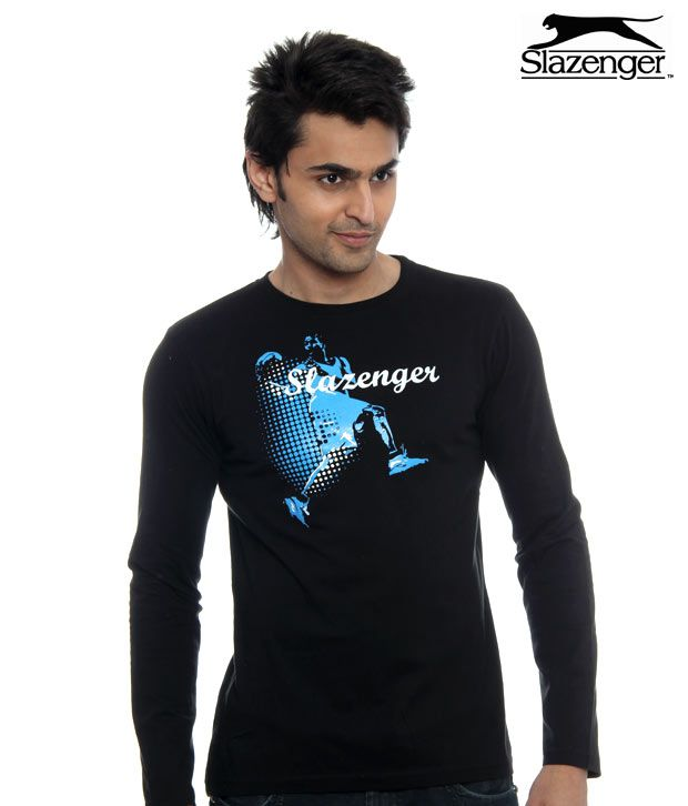 Slazenger Black Basket Ball T-Shirt (SWMF010)
