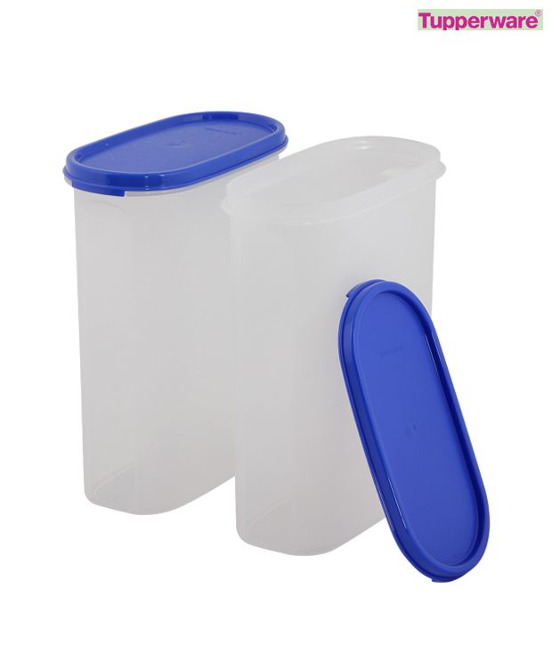Tupperware Set of Two Oval Modular Mates-2.3 Ltrs