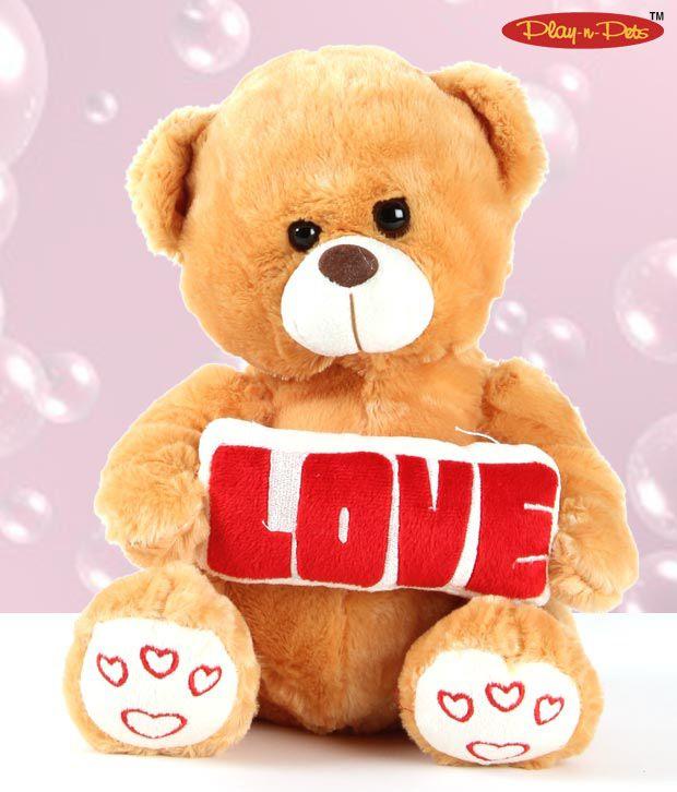 Play-n-Pets Love Bear Soft Toy