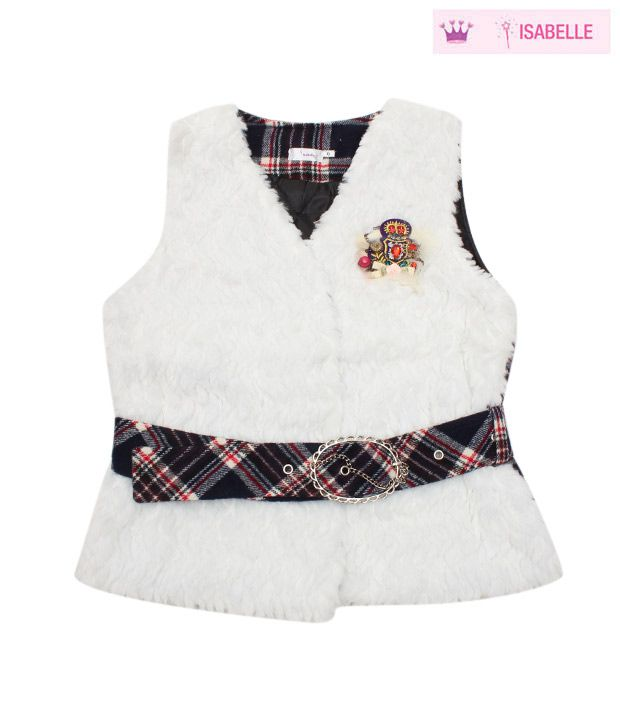 Isabelle Smart White Designer Jacket For Kids
