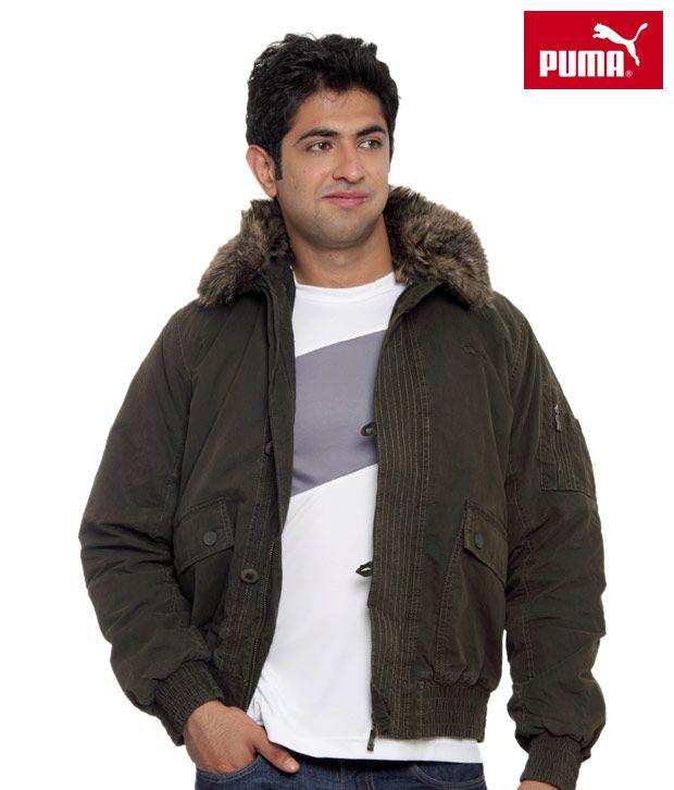 Puma Olive Green Bomber Jacket