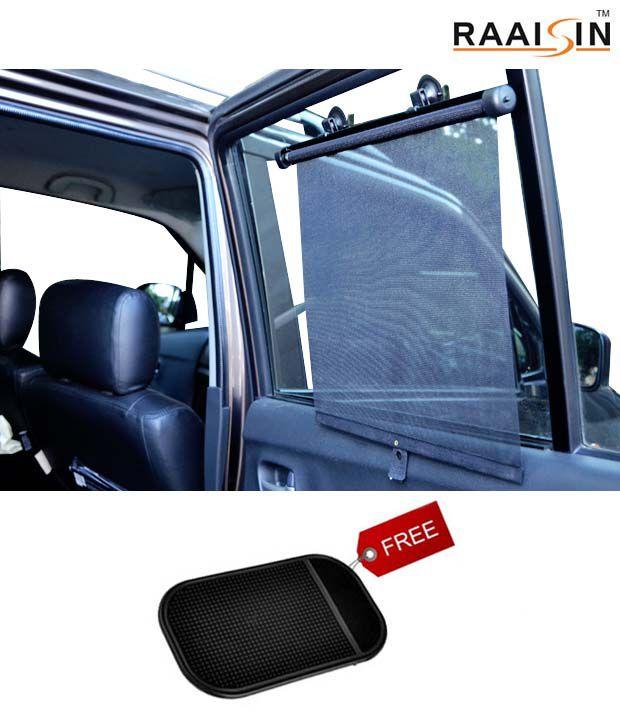 Raaisin Car Window Sun Shade Set Of 4 Anti Slip Pad