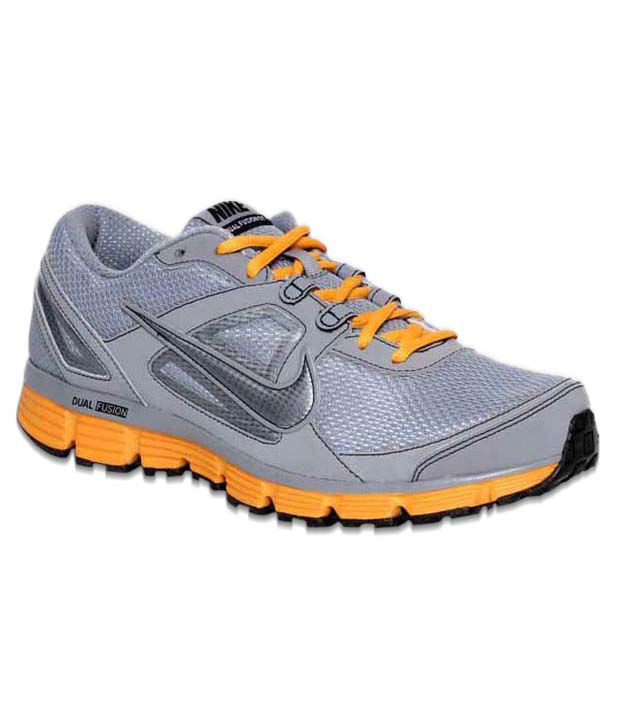 e63773134f733 Nike Dual Fusion ST Grey   Orange Running Shoes - Buy Nike Dual Fusion ST  Grey   Orange Running Shoes Online at Best Prices in India on Snapdeal