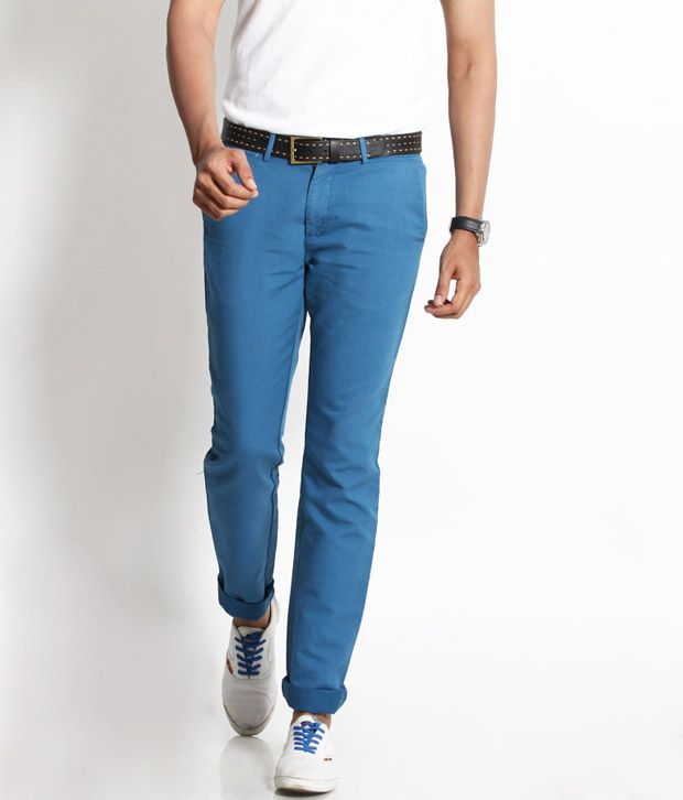 Basics 029 Smart Blue Chinos