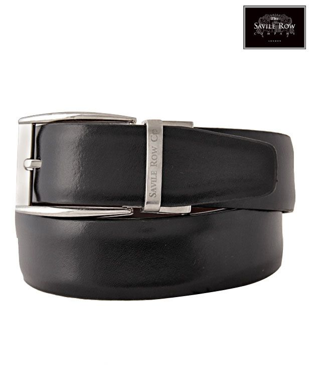 The Savile Row Enticing Black & Brown Reversible Belt