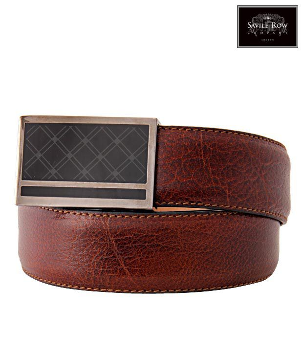 The Savile Row Exclusive Brown Textured Finish Belt