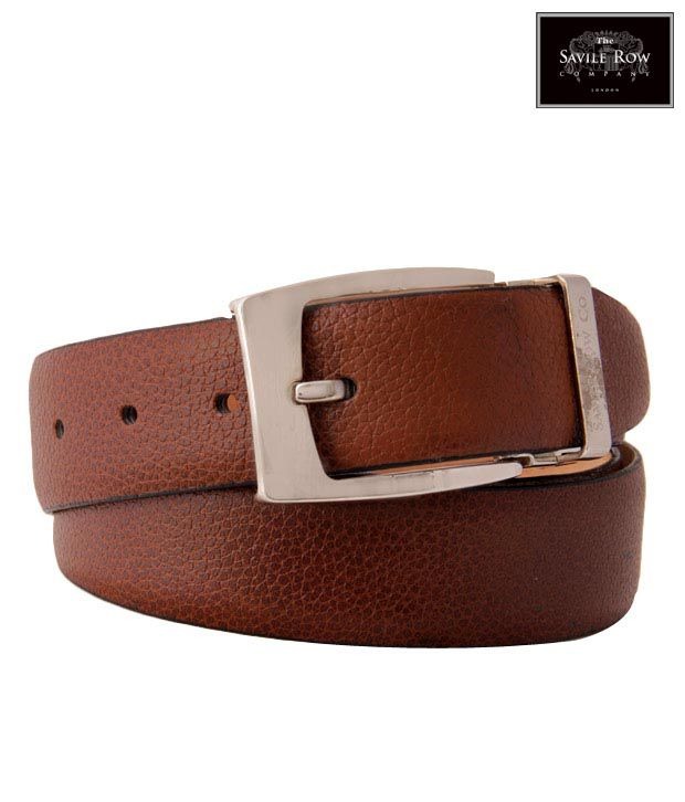 The Savile Row Elegant Brown Rugged Finish Belt