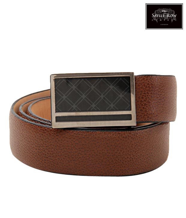 The Savile Row Attractive Brown Rugged Finish Belt