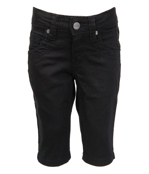 Gini & Jony Black Shorts For Kids