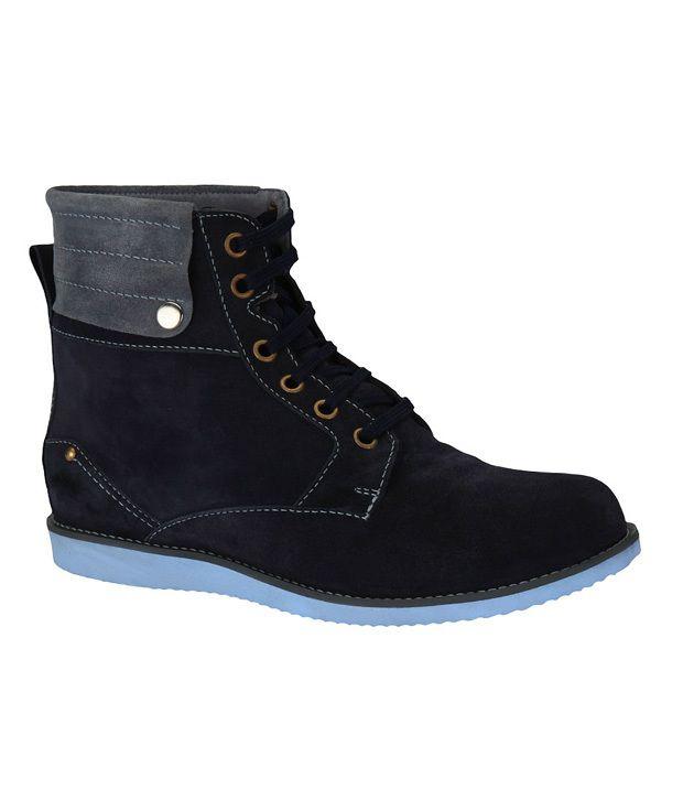 Sharon Men CR0095 Blue Boots