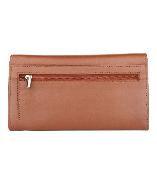 0ad2b4cd461 Kara Smart Brown Textured Ladies Wallet available at SnapDeal for Rs.647