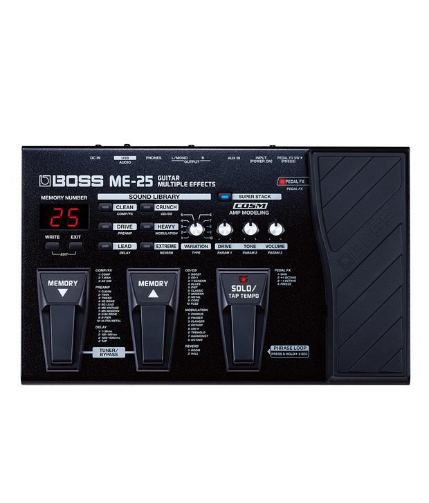 boss me 25 guitar multiple effects buy boss me 25 guitar multiple effects online at best price. Black Bedroom Furniture Sets. Home Design Ideas