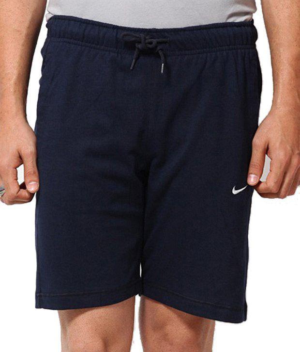Nike As Df Cricket Cotton Short Blue