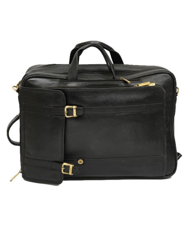 Chanter Leather Black Laptop Bag - EA22