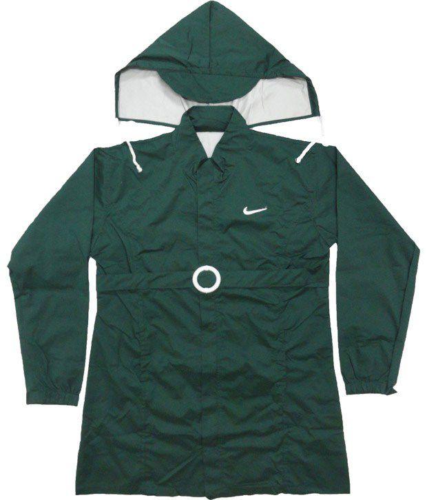 Jazzup Monsoon Dark Green Raincoat For Kids