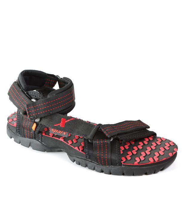Sparx Black Amp Red Floater Sandals Buy Sparx Black Amp Red