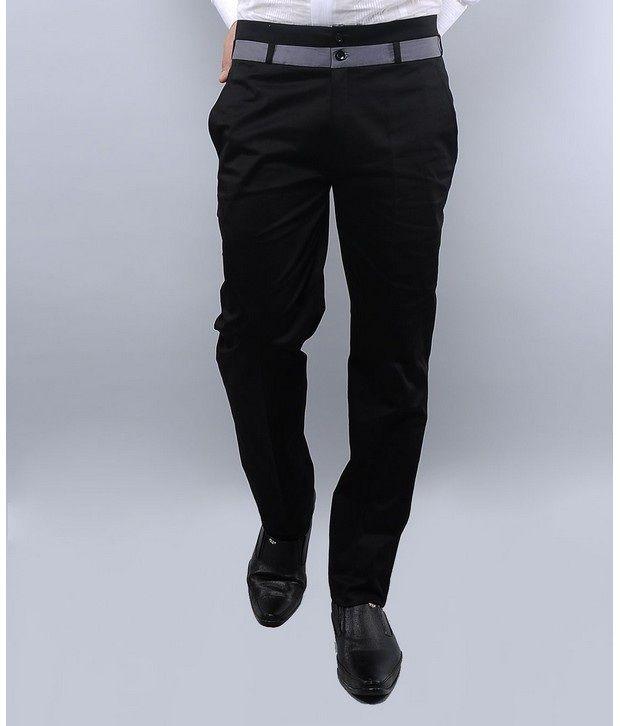 I Know Black & Grey Trouser