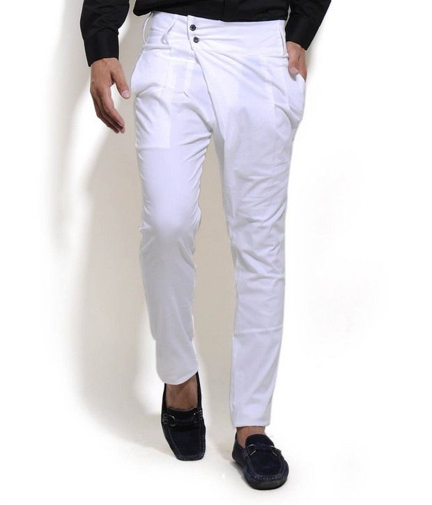 I Know White Pleated Trouser