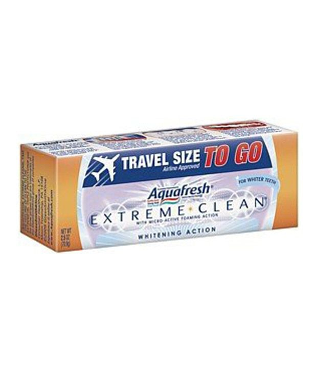 Aquafresh Extreme Clean Whitening Action Fluoride ...