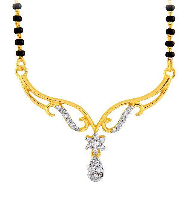 Diti 0.15ct. Diamond 5.07 Gm 18kt Gold Floral Tanmaniya