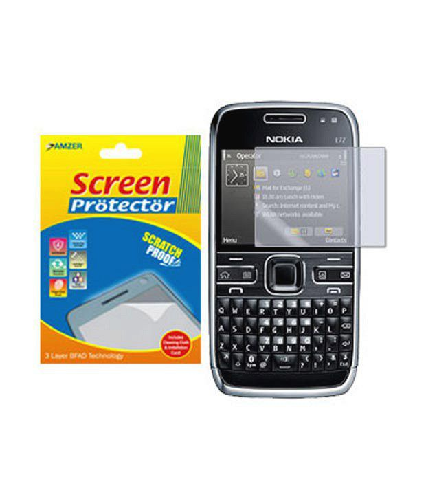 Nokia E72 Clear Screen Guard by Amzer